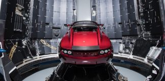 tesla car spacex outerspace rocket musk